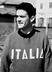 Biondi nazionale junior di atletica leggera, 1957