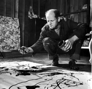 Pollock nel suo studio