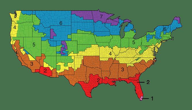R Value Insulation Zones Map