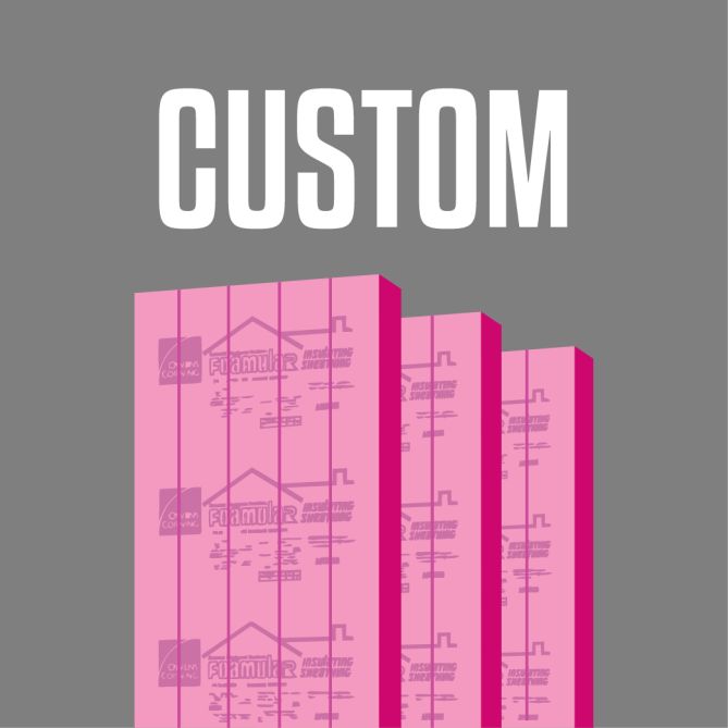 Proudly offering custom Owens Corning rigid foam insulation board for sale.