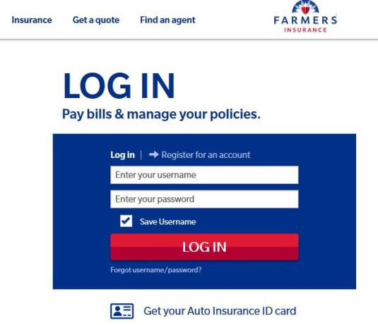 Pay Farmers Insurance Bill