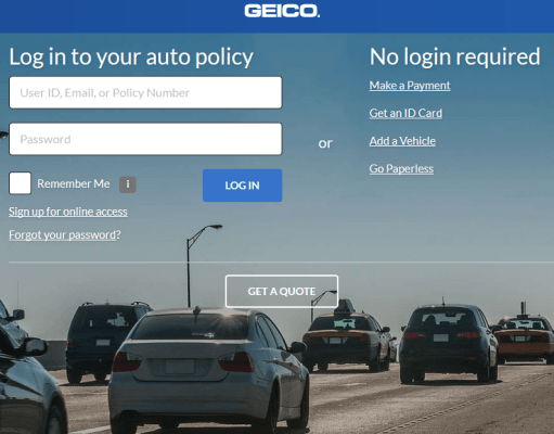 GEICO Auto Insurance Bill Payment