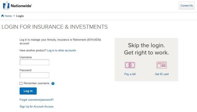 Nationwide Auto Insurance Login www.Nationwide.com