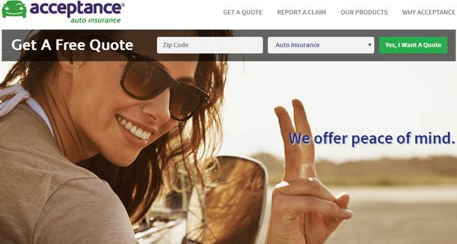 Acceptance Auto Insurance Login www.acceptanceinsurance.com