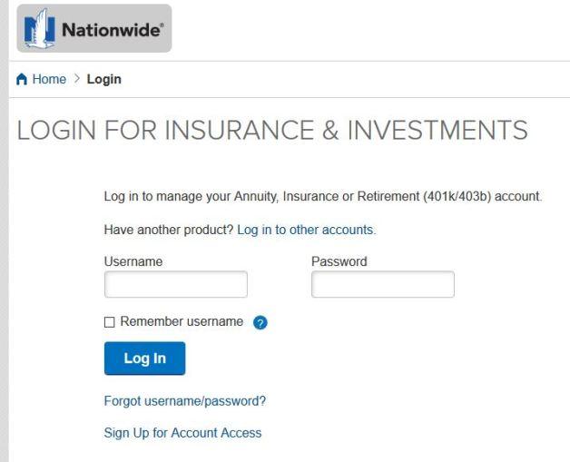 Nationwide Life Insurance Login