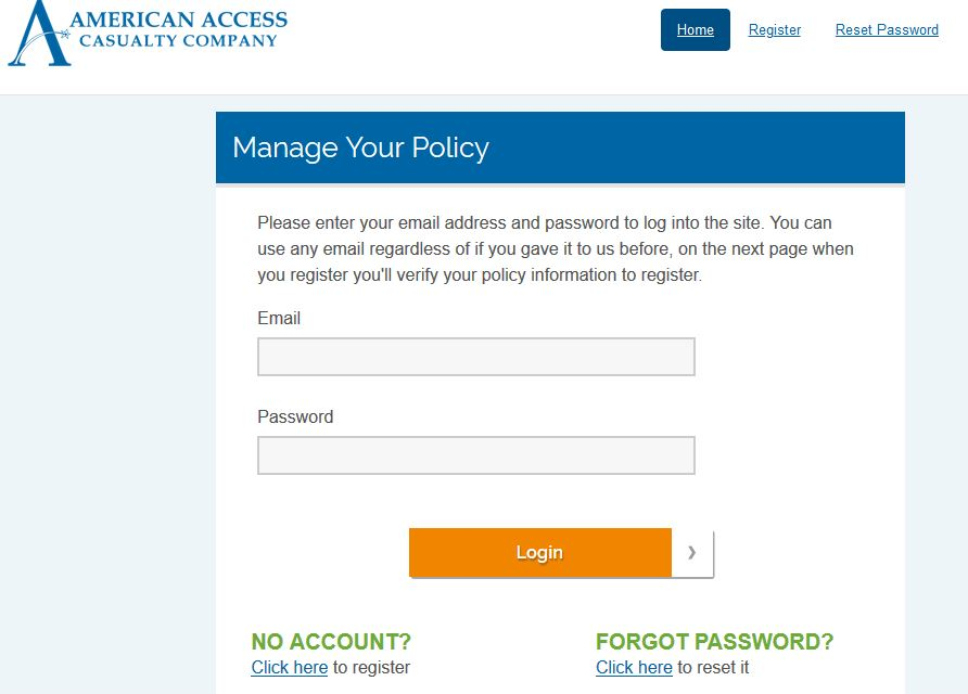 American Access Insurance Login To Make Payment Online