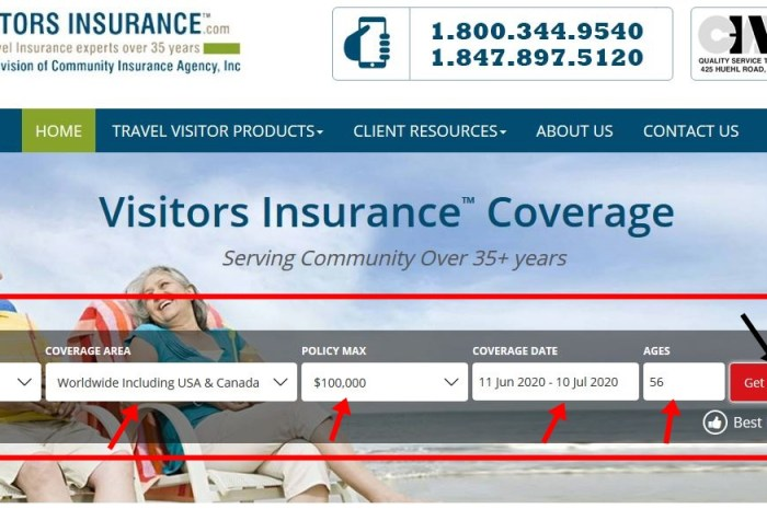 How To Get Visitors Travel Insurance Quote – www.visitorsinsurance.com