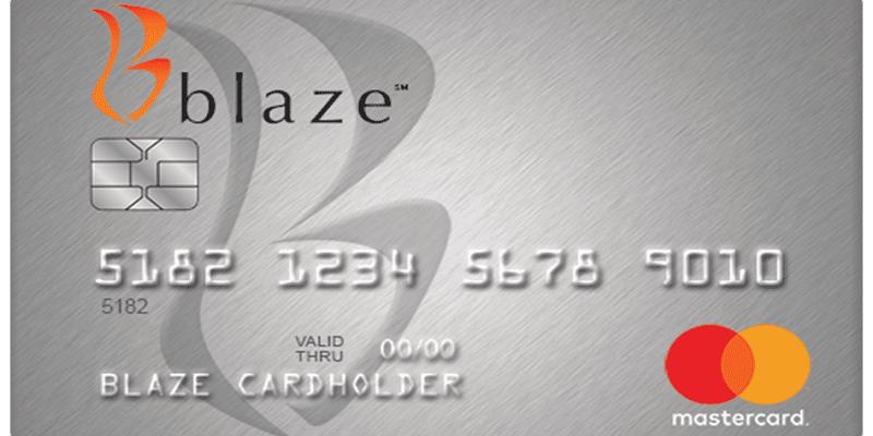 Blaze Credit Card Login Process