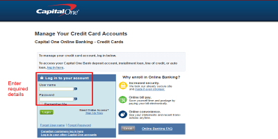 Capital One Credit Card Login | How to Pay Your Credit Card Bill
