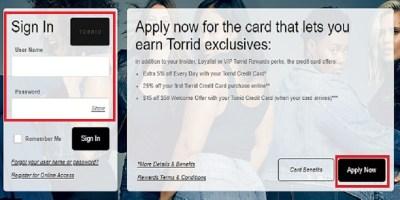 Torrid Credit Card Login   Sign in   Make A Payment Online