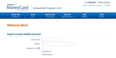 Walmart Money Card Login   Walmart Money Card Bill Pay