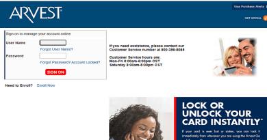 Arvest Credit Card Login