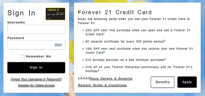 Forever 21 Credit Card Login | Forever 21 Credit Card Payment