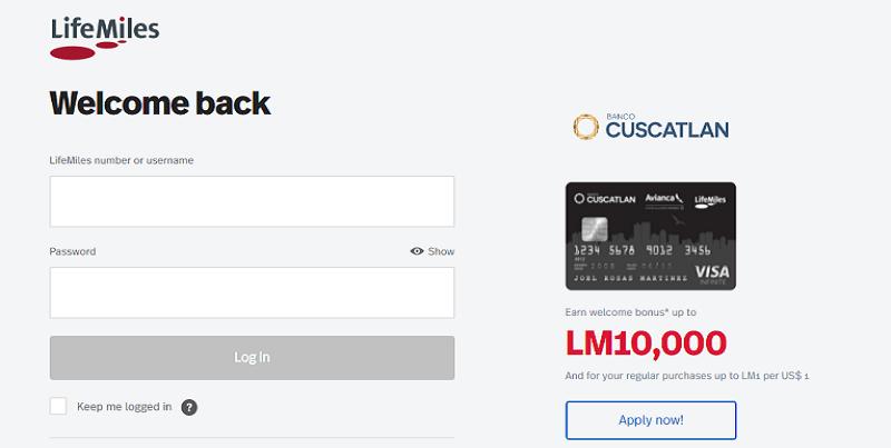 Avianca Credit Card Login