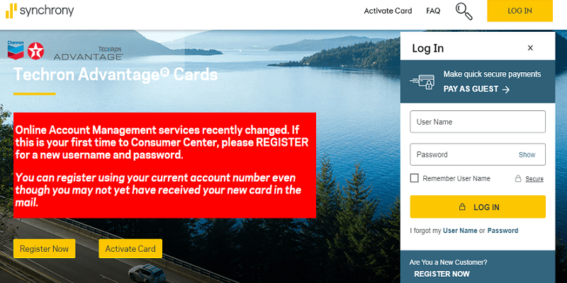 Chevron Texaco Credit Card Login