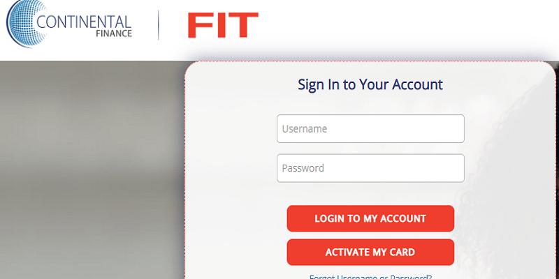 Fit Credit Card Login