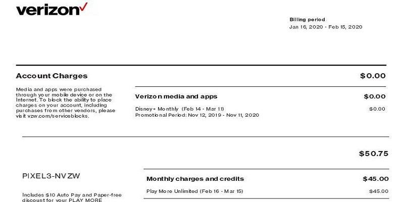 Verizon Business Pay Bill