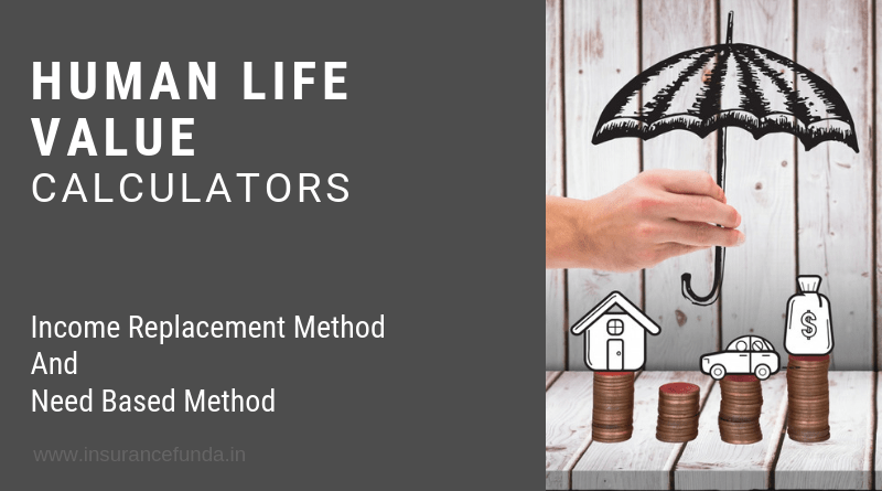 Human life value HLV calculators Need based method and income replacement method
