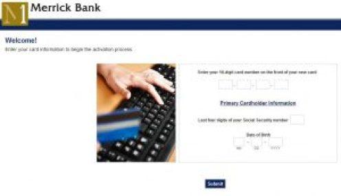 Activate Your Merrick Bank Card Online