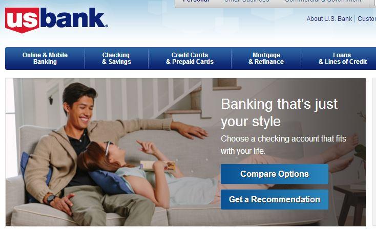 U.S. Bank Online Banking Account