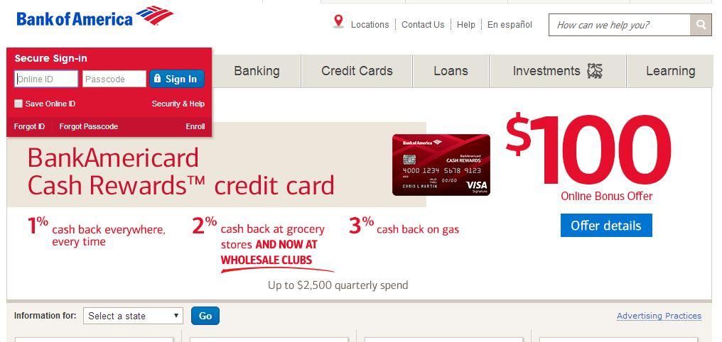 Earn Rewards With Bankamericard Cash Rewards Credit Cards