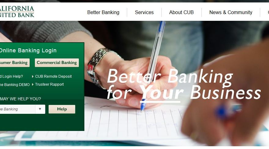 California United Bank Online Banking Login