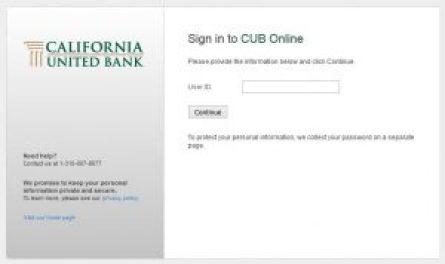 California United Bank Online Banking Login