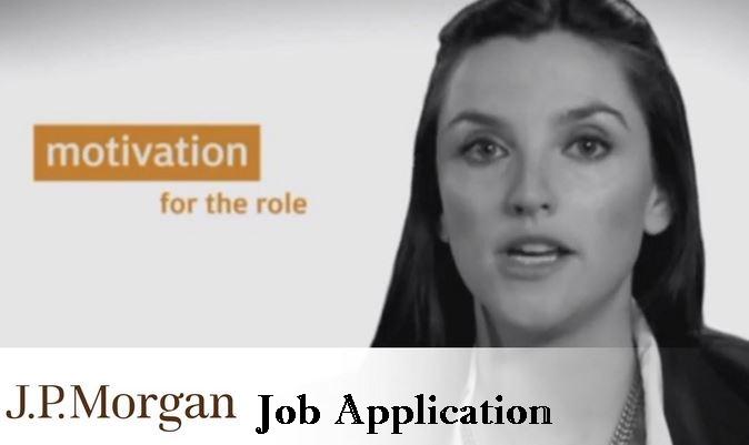 JP Morgan Job Application