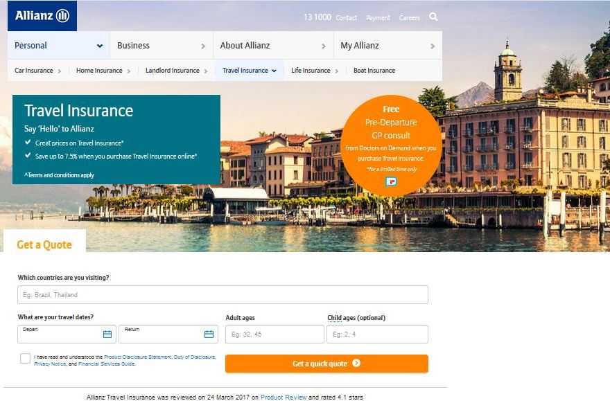 Allianz Travel Insurance Quote