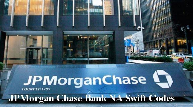 JPMorgan Chase Bank NA Swift Codes