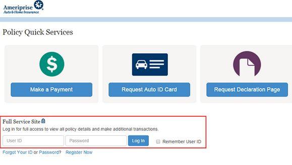 Ameriprise Auto Insurance Login