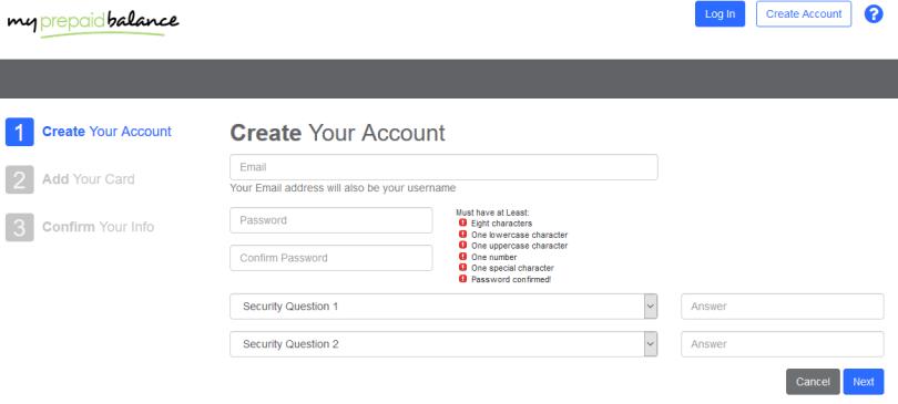 access my prepaid balance account at www.myprepaidbalance