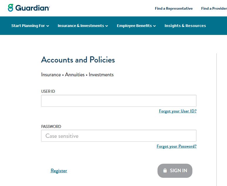 Guardian Life Insurance Login