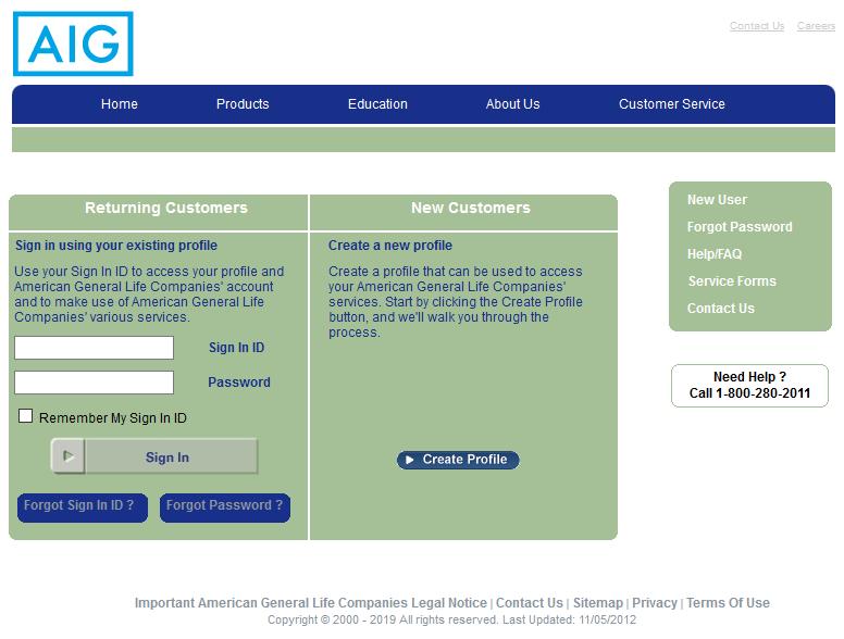 American General Life Insurance Login