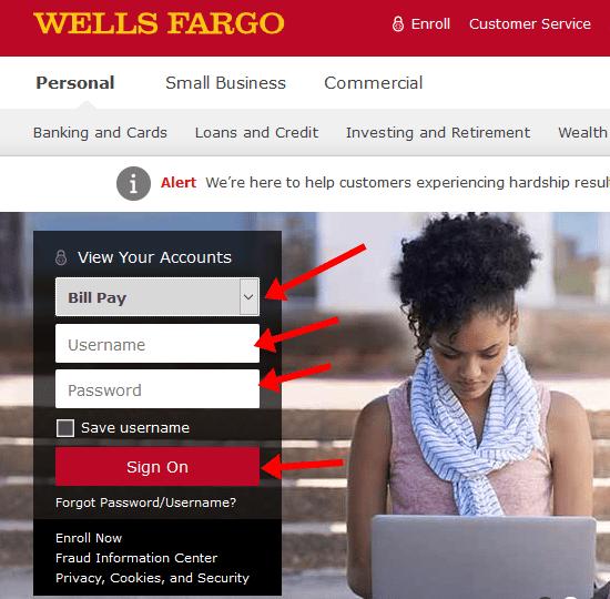 wells fargo financial national bank payment address