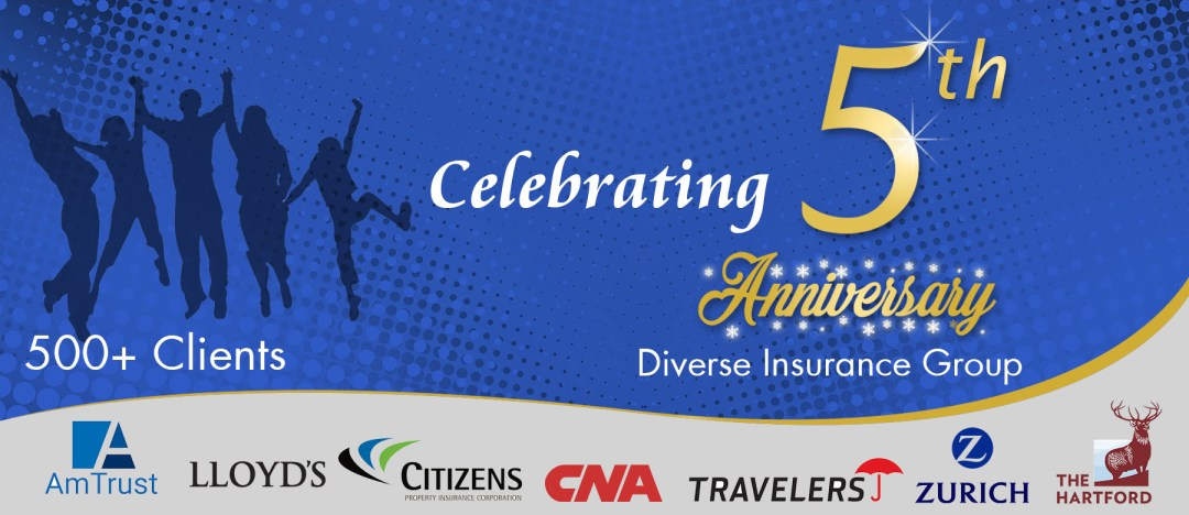 5th anniversary Diverse Insurance Group (1st Jan 2012-1st Jan 2017)