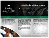 Berkley Equine & Cattle – Mortality Brochure