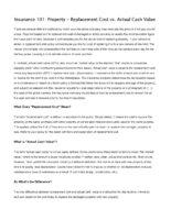 ARIC B09 – Replacement Cost vs Actual Cash Value