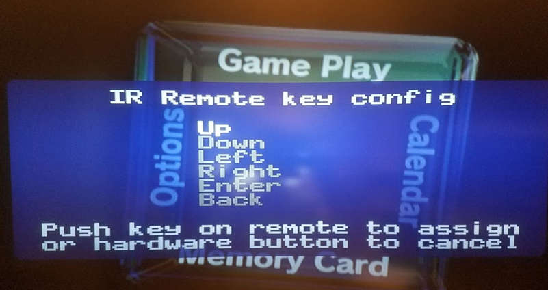 Carby Remote Control On Screen Menu