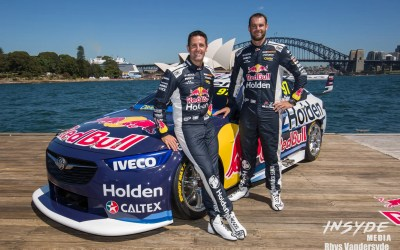 Photo Shoot: Red Bull Holden Racing Team Launch Sydney Harbour
