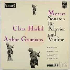W A Mozart – Sonaten fur Klavier und Violine