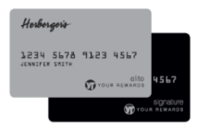 herbergers credit card