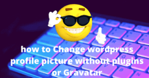 feature image wordress profile picture