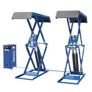 7-Elevador de doble tijera electrohidráulico rebajado
