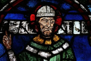 St. Thomas Becket Stained Glass Window in Canterbury Cathedral
