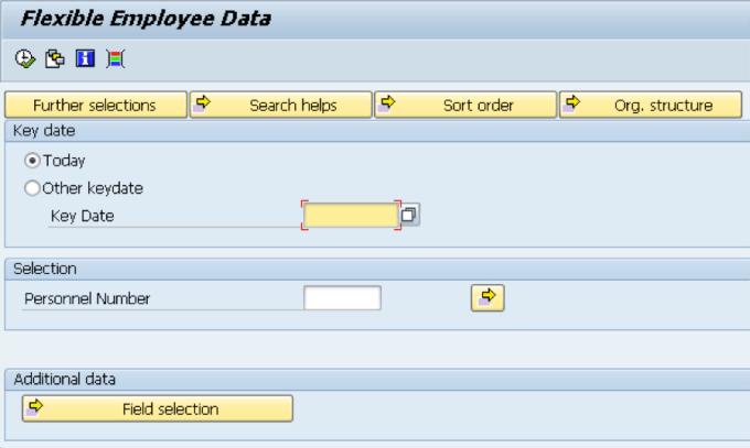 flexible employee data report