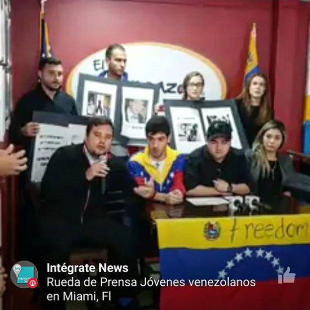 #Integrte pesente en la conferencia de prensa de los jóvenes venezolanos en Miami en la que están invitando a sus conciudadanos a participar en la #ConsultaPopular
