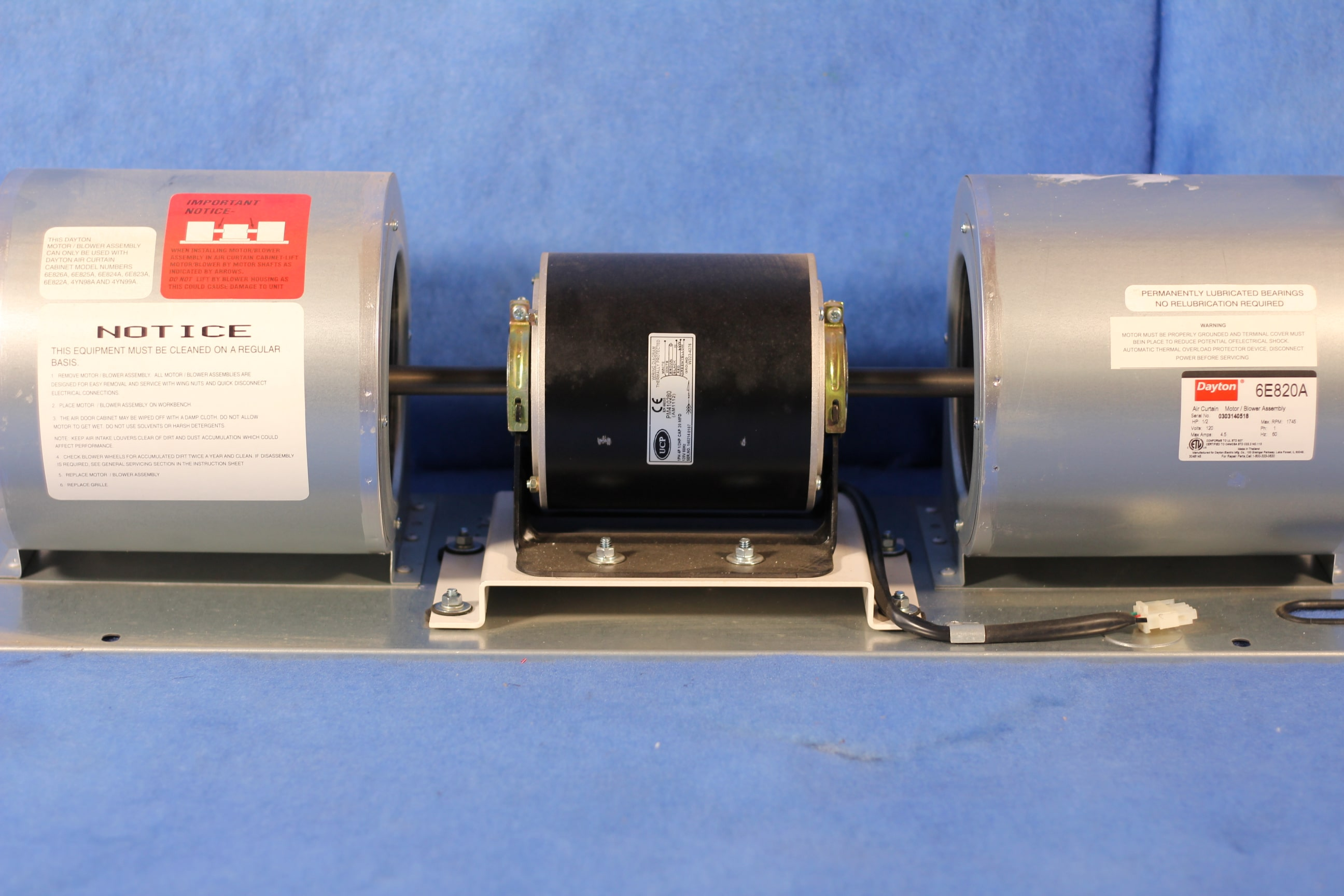 https www integrityelectricdirect com shop motors dayton air curtain blower motor assembly se820a 1 year warranty