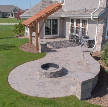 Brick Patio and Decorative Walls