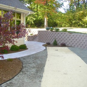 Retaining Wall Swale Muskego